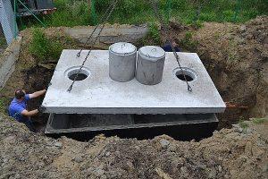 montaż gotowego szamba betonowego