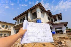 projekt budowy domu na tle domu