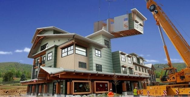 dom prefabrykowany wizualizacja budowy