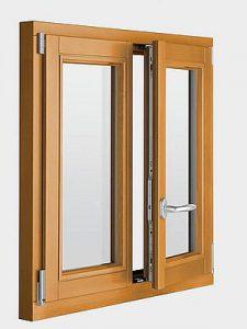 małe okno drewniane brązowe